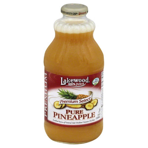 Lakewood Pure Pineapple Premium 100% Juice, 32 Fo (Pack of 6)