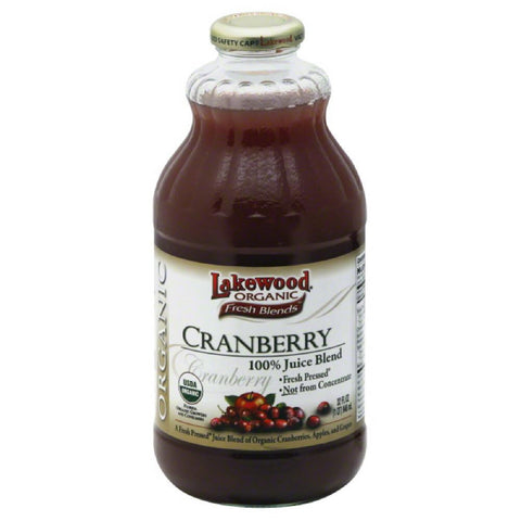 Lakewood Cranberry 100% Juice Blend, 32 Fo (Pack of 6)