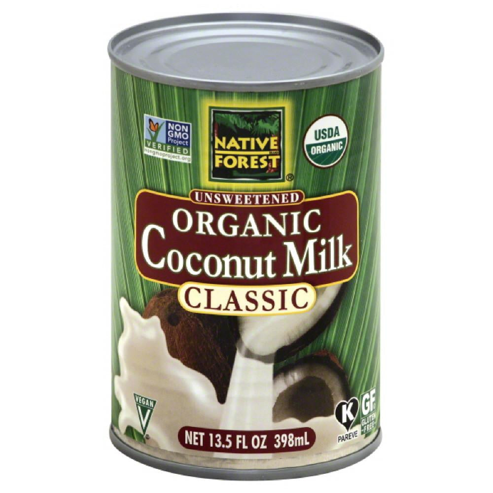 Native Forest Classic Unsweetened Organic Coconut Milk, 13.5 Fo (Pack of 12)