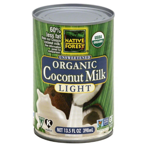 Native Forest Unsweetened Light Organic Coconut Milk, 13.5 Fo (Pack of 12)