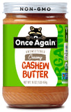 Once Again Nut Butter Cashwe No salt Organic Smooth, 16 OZ (Pack of 6)