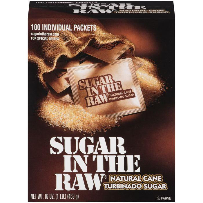 Sugar In The Raw Natural e Turbinado Sugar 100 packets 16 Oz (Pack of 8)