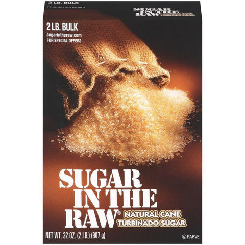 Sugar In The Raw Natural e Turbinado Sugar 2 lb. Bulk (Pack of 12)