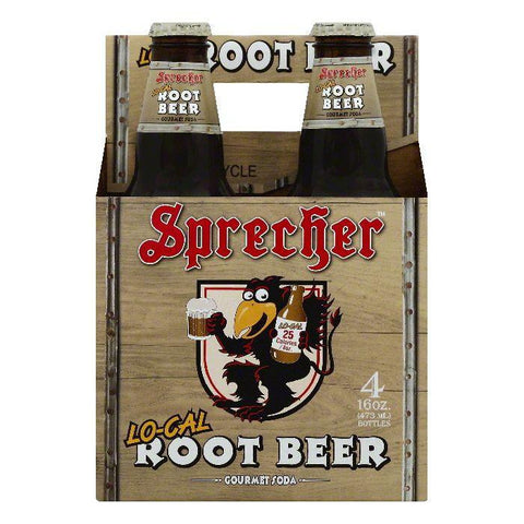 Sprecher Lo-Cal Root Beer Gourmet Soda, 4 ea (Pack of 6)