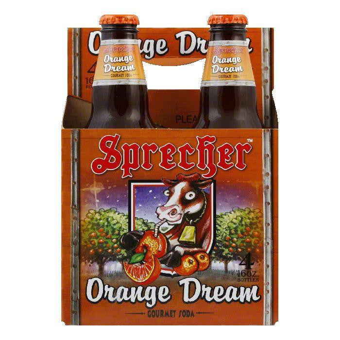 Sprecher Orange Dream Soda 4 pack, 64 FO (Pack of 6)