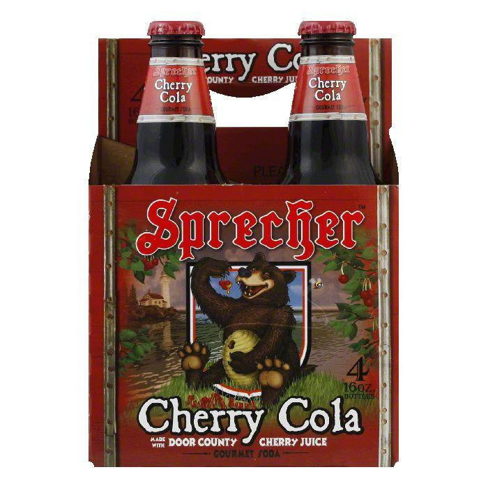 Sprecher Cherry Cola 4 pack, 64 OZ (Pack of 6)