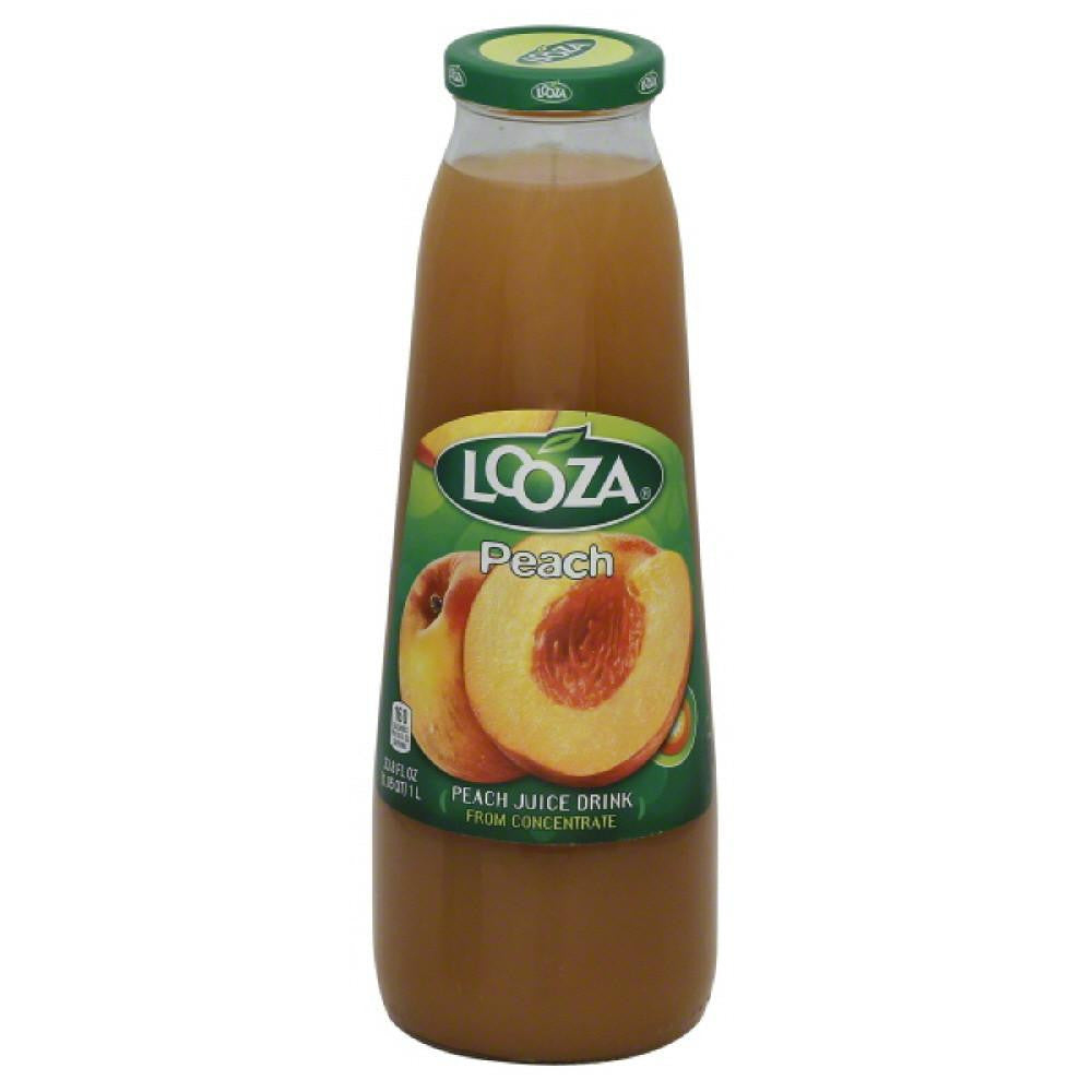 Looza Peach Juice Drink, 33.8 Oz (Pack of 6)