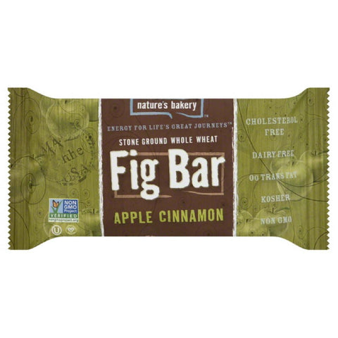 Natures Bakery Apple Cinnamon Fig Bar Twin Pack, 2 Oz (Pack of 12)