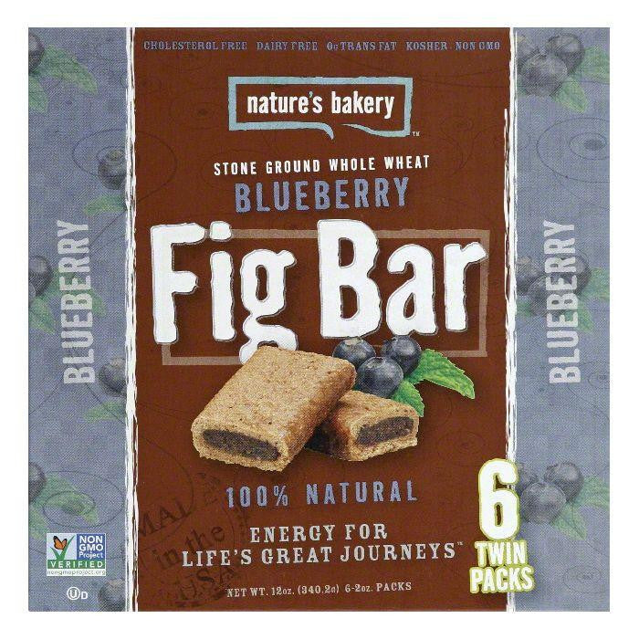 Natures Bakery Whole Wheat Blueberry Fig Bar, 12 Oz (Pack of 6)