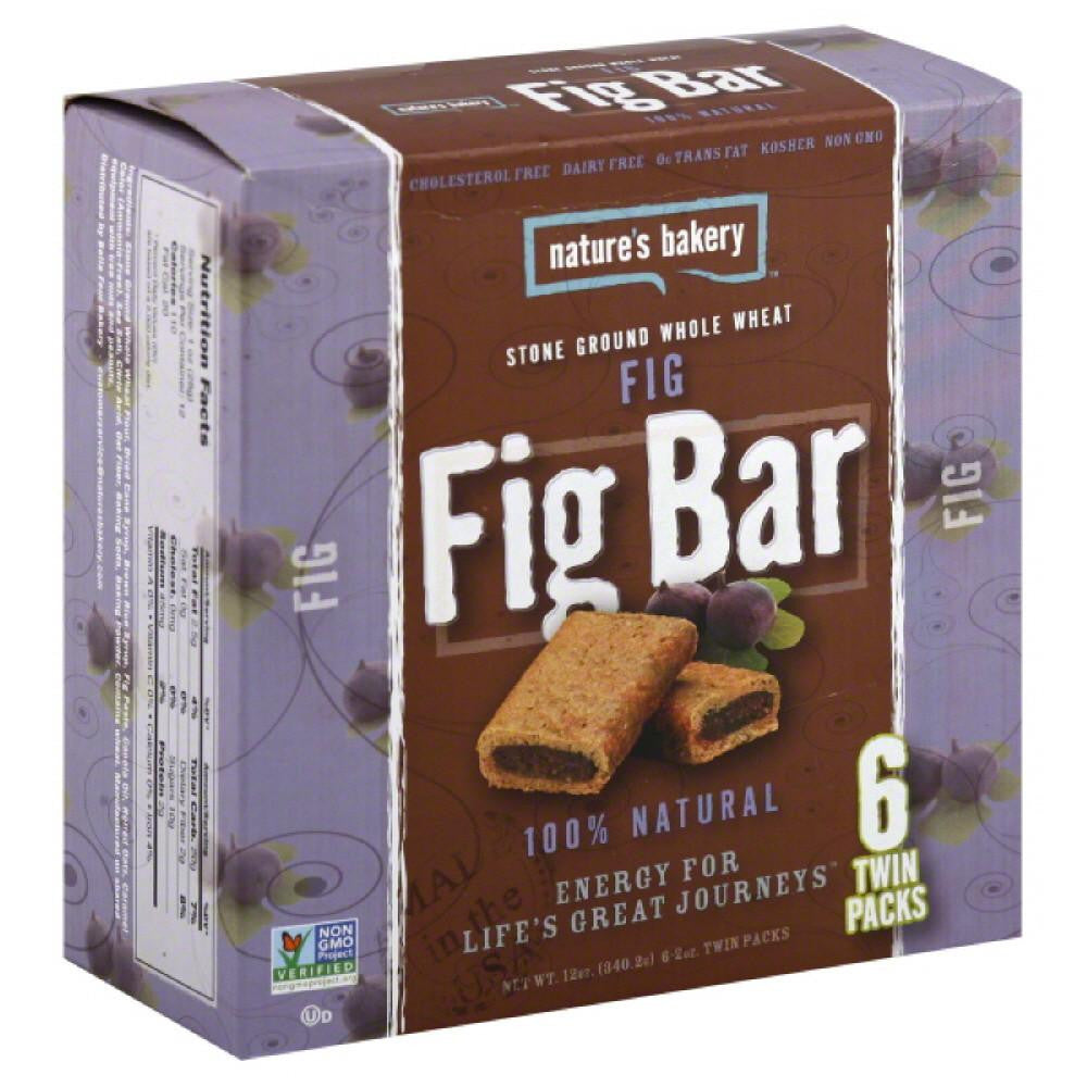 Natures Bakery Stone Ground Whole Wheat Fig Bar, 12 Oz (Pack of 6)