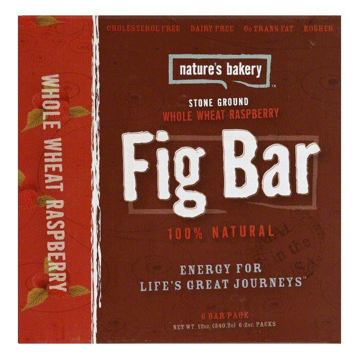 Natures Bakery Whole Wheat Raspberry Fig Bar, 12 Oz (Pack of 6)