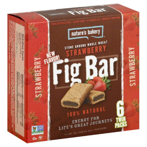 Natures Bakery Strawberry Fig Bar Twin Packs, 12 Oz (Pack of 6)