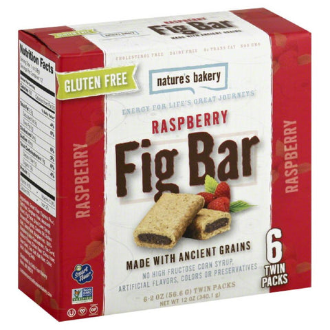 Natures Bakery Raspberry Fig Bar, 12 Oz (Pack of 6)