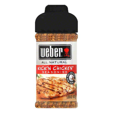 Weber Grill Seasoning Kickn Chicken, 5.5 OZ (Pack of 8)