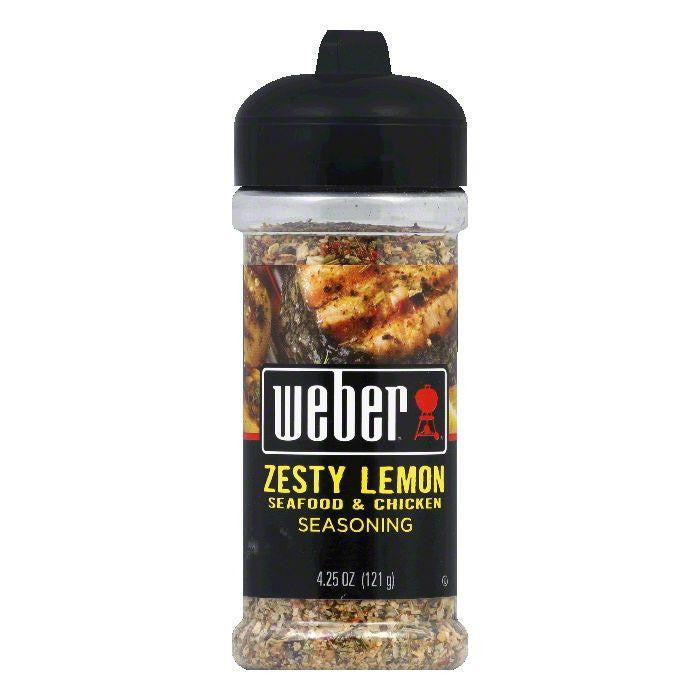Weber Grill Seasoning Zesty Lemon, 4.25 OZ (Pack of 8)