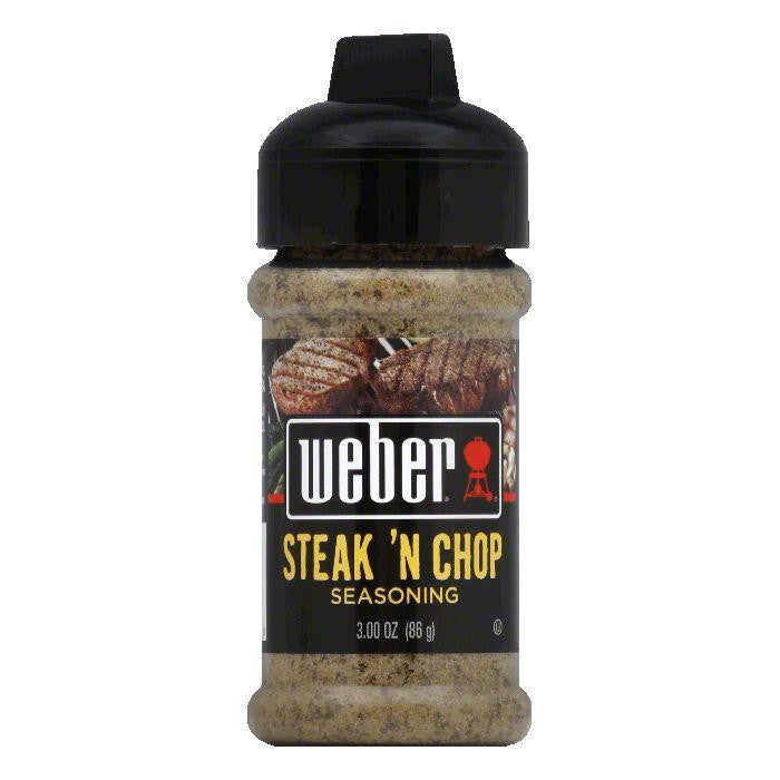 Weber Grill Steak & Chop Seasoning 3.00 oz, 3 OZ (Pack of 6)