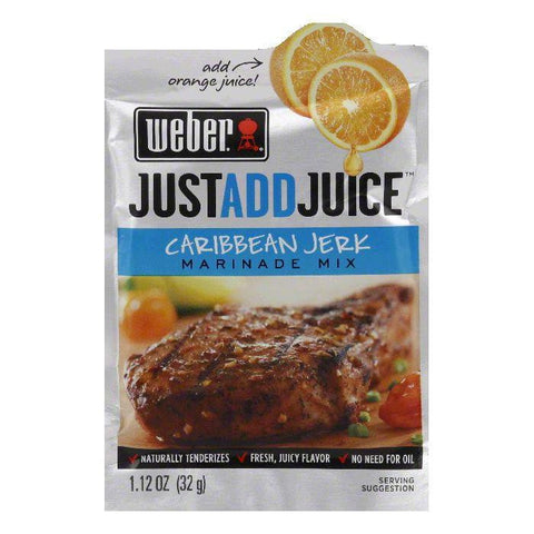 "Weber Grill ""Just Add Juice"" Caribbean Jerk Marinade, 1.12 OZ (Pack of 12)"