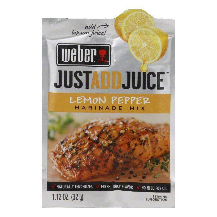 "Weber Grill ""Just Add Juice"" Lemon Pepper Marinade, 1.12 OZ (Pack of 12)"