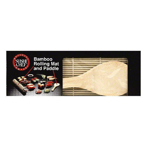 Sushi Chef Bamboo Rolling Mat and Paddle, 1 ea (Pack of 6)