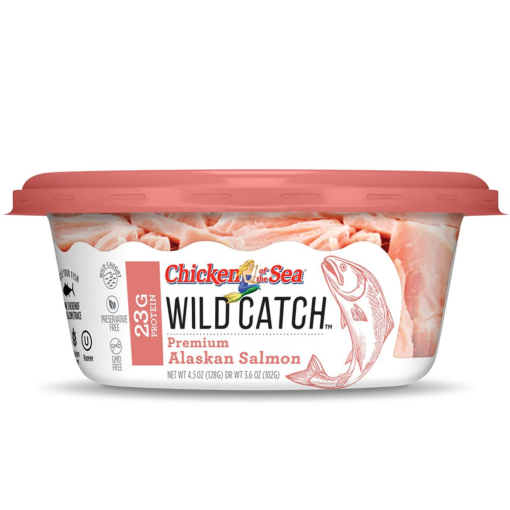 Chicken of the Sea Wild Catch, Alaskan Salmon, 4.5 Oz Cups, (Pack of 8)