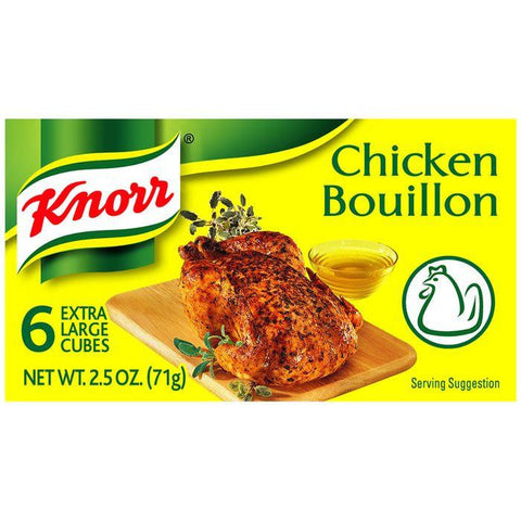 Knorr Chicken Extra Large Bouillon Cubes 2.5 Oz (Pack of 24)