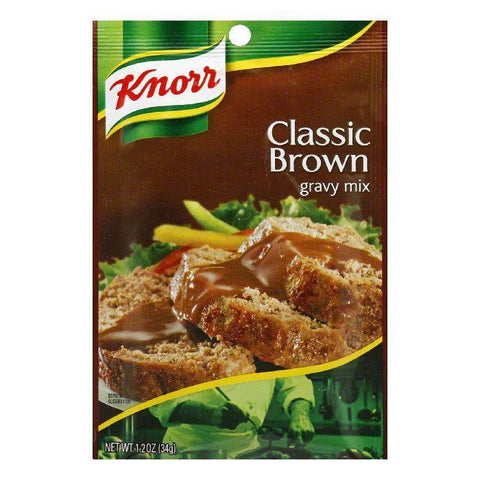 Knorr Gravy Classics Classic Brown Gravy Mix, 1.2 OZ (Pack of 12)