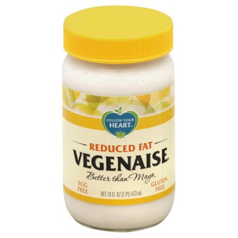 Follow Your Heart Reduced Fat Vegenaise, 16 Oz (Pack of 6)
