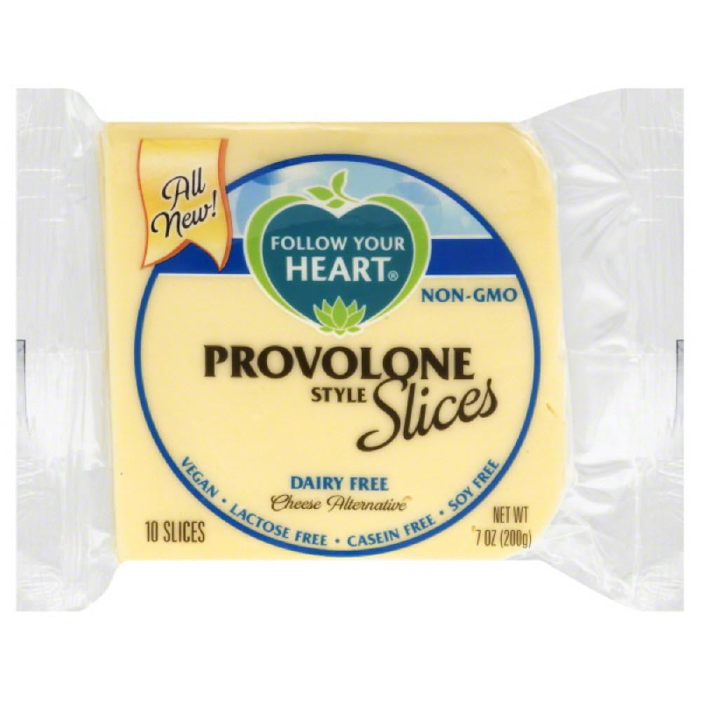 Follow Your Heart Provolone Style Slices Dairy Free Cheese Alternative, 7 Oz (Pack of 12)