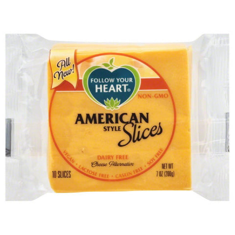 Follow Your Heart Slices American Style Cheese Alternative, 7 Oz (Pack of 12)
