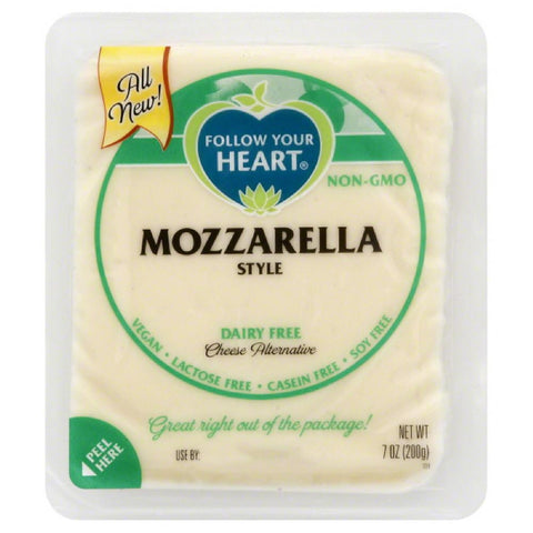Follow Your Heart Mozzarella Style Dairy Free Cheese Alternative, 7 Oz (Pack of 13)