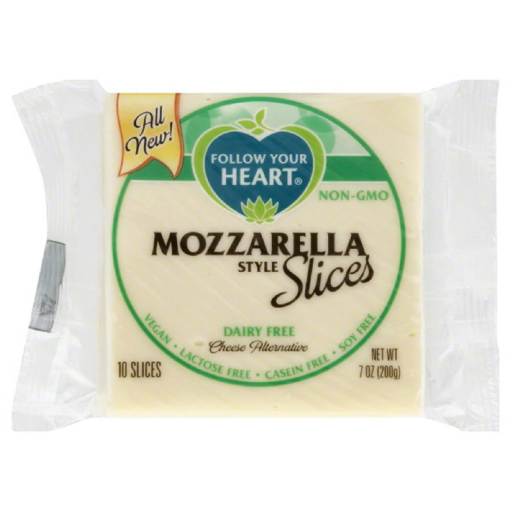 Follow Your Heart Mozzarella Style Slices Dairy Free Cheese Alternative, 7 Oz (Pack of 12)