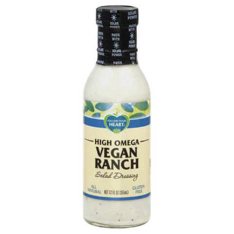 Follow Your Heart High Omega Vegan Ranch Salad Dressing, 12 Oz (Pack of 6)