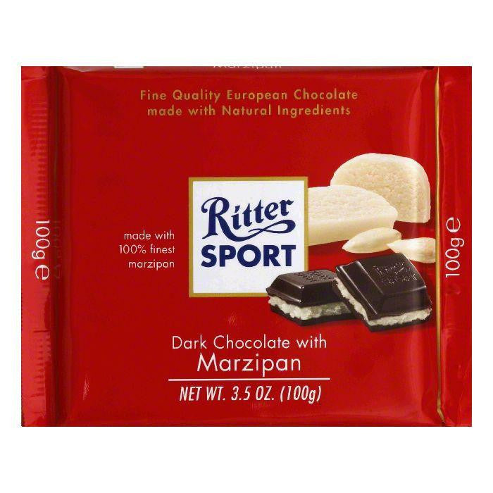 Ritter Sport Chocolate Bar Marzipan, 3.5 OZ (Pack of 12)