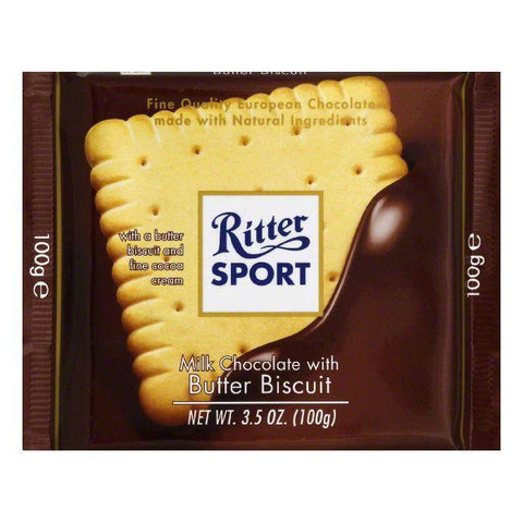Ritter Sport Chocolate Bar Milk Butter Biscuit, 3.5 OZ (Pack of 11)