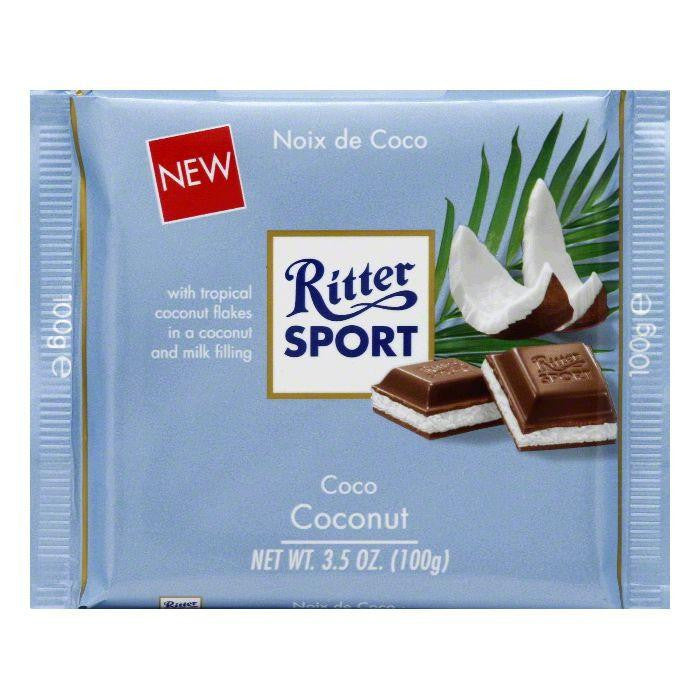 Ritter Sport Coconut Chocolate, 3.5 Oz (Pack of 12)