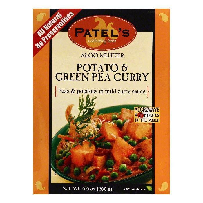 Patels Aloo Mutter Potato & Green Pea Curry, 9.9 OZ (Pack of 10)