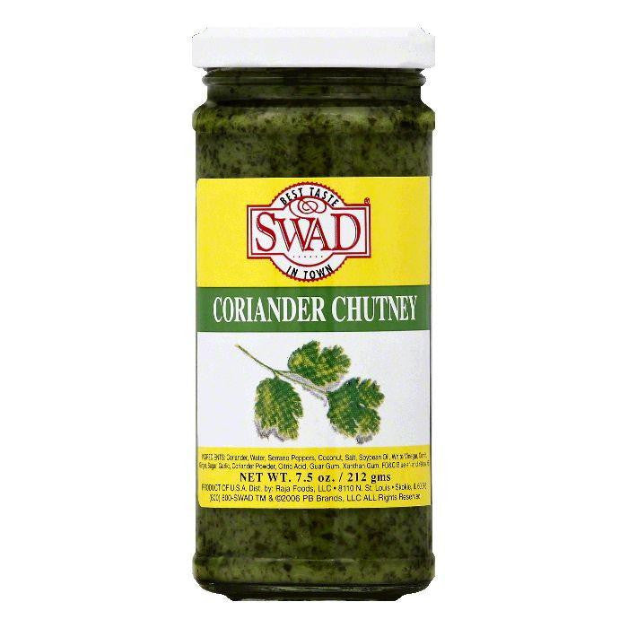 Swad Coriander Chutney, 7.5 OZ (Pack of 12)