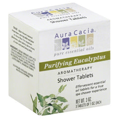 Aura Cacia Purifying Eucalyptus Aromatherapy Shower Tablets, 3 Oz (Pack of 3)