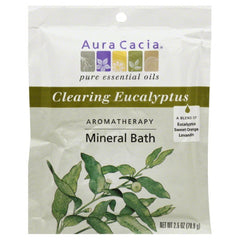 Aura Cacia Clearing Eucalyptus Aromatherapy Mineral Bath, 2.5 Oz (Pack of 6)