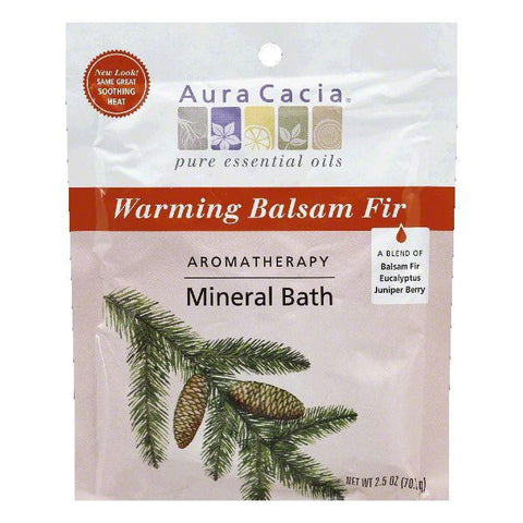 Aura Cacia Mineral Bath Soothing Heat, 2.5 OZ (Pack of 6)