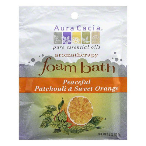Aura Cacia Patchouli/Sweet Orange Foam Bath, 2.5 Oz (Pack of 6)