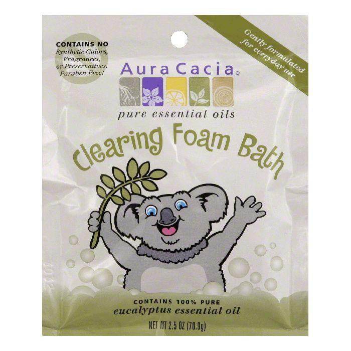 Aura Cacia Eucalyptus Essential Oil Clearing Foam Bath, 2.5 Oz (Pack of 6)