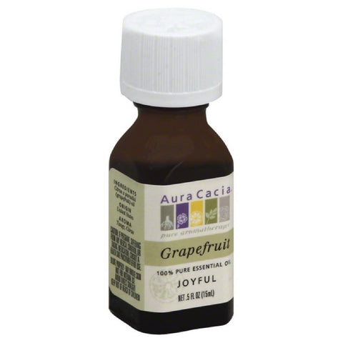Aura Cacia Grapefruit 100% Pure Essential Oil, 0.5 Oz