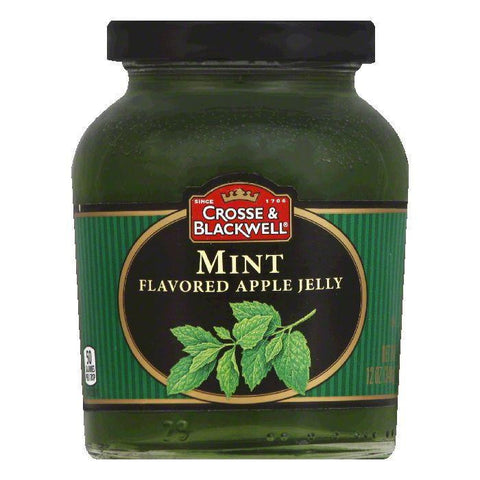 Crosse & Blackwell Jelly Mint Apple, 12 OZ (Pack of 6)