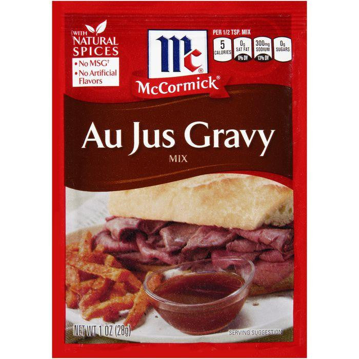McCormick Au Jus Gravy Mix 1 oz Packet (Pack of 12)