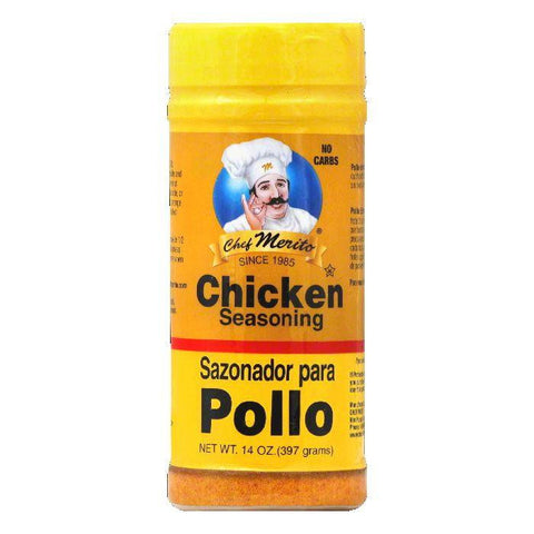 Chef Merito Chicken Seasoning, 14 OZ (Pack of 6)