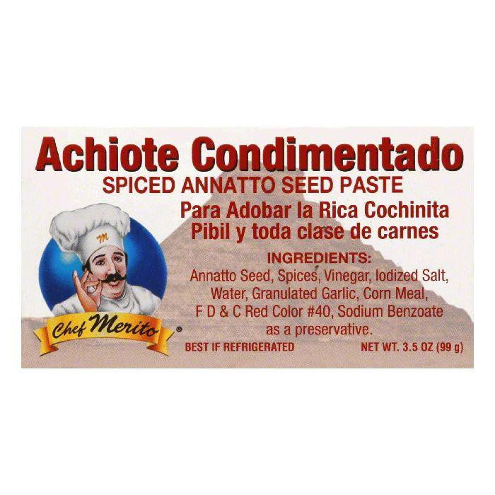 Chef Merito Achiote Seasoning Paste, 3.5 OZ (Pack of 12)