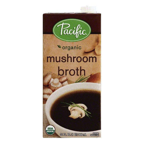 Pacific Mushroom Broth, 32 OZ (Pack of 12)