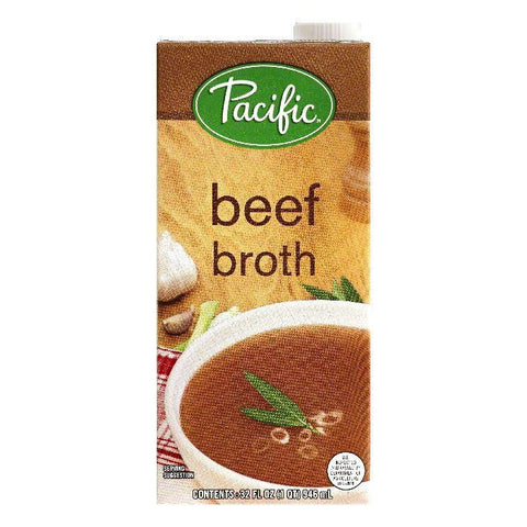Pacific Beef Broth, 32 OZ (Pack of 12)