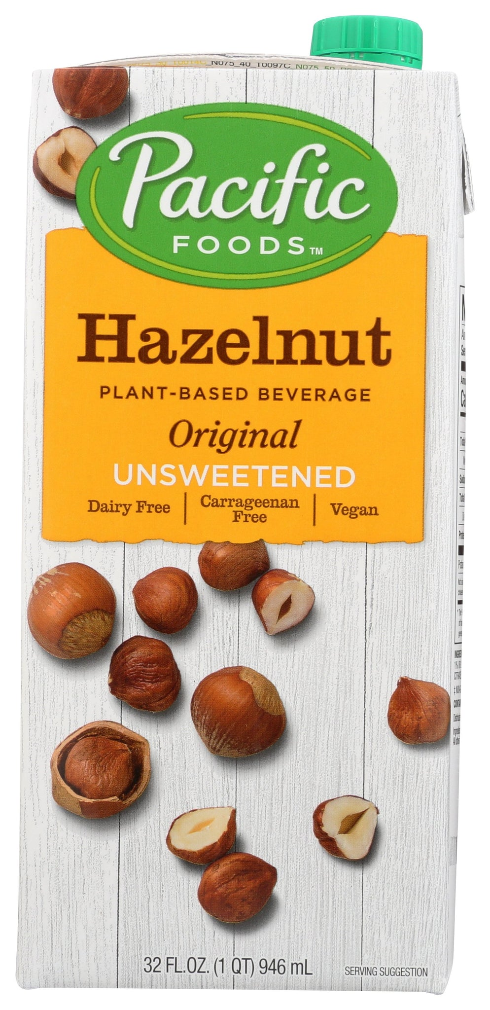 Pacific Foods Hazelnut Original Unsweetened, 32 fl oz (Pack of 6)